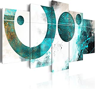 Konda Art - Large Size Modern Canvas Art Blue Abstract Artwork for Walls Contemporary Giclee Canvas Print Art 5 pcs Framed Decor Painting for Office Stretched and Ready to Hang (W60 x H30)