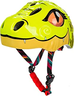 Natuway Toddler and Kids Bike Helmet with Taillight Bicycle Skate Scooter Helmet Unicorn and Dinosaur 3D Design CPSC cerified