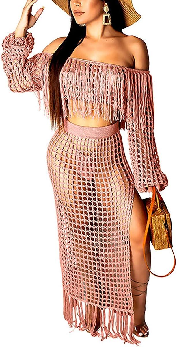 Mycherish Women's Bodycon Dress Off The Sleeve Plaid Print Sheer Club Midi Dress Medium Pink#2