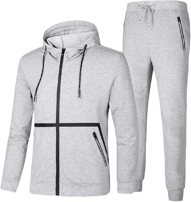XiaoTianXinMen XTX Mens Hooded Jacket Sweatshirts Jogger Sweatpants TwoPiece Tracksuit Set