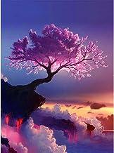 Chinatera DIY Diamond Cherry Trees Embroidery Painting Wall Sticker Home Decor 32 * 42cm