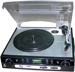 Pyle Upgraded Vintage Record Player - Classic Vinyl Player, Retro Turntable, MP3 Vinyl, Music Editing Software Included, C...