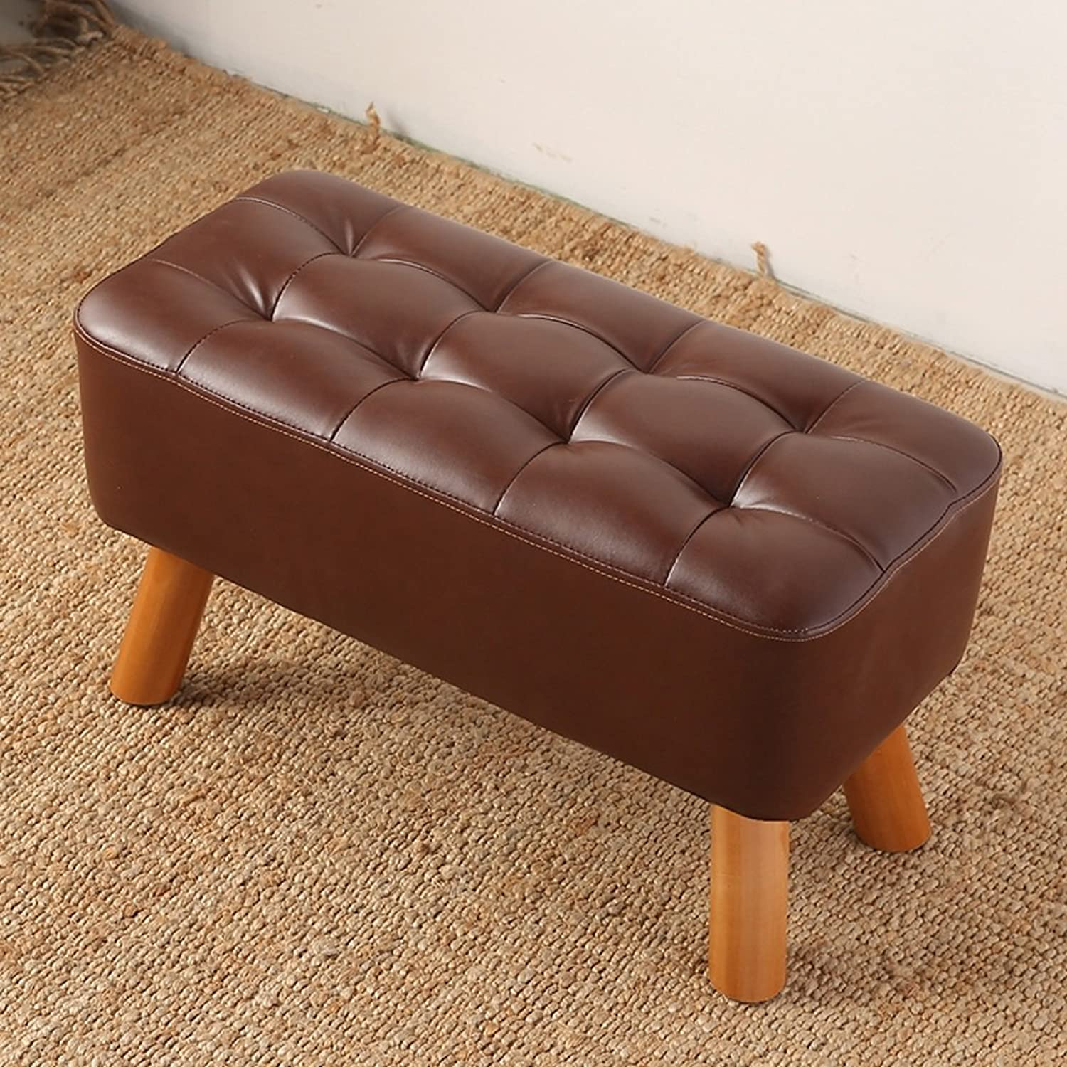 MXD Stool Change shoes Bench Bench Simple Modern Sofa Stool Bench Wear shoes Bench Brown