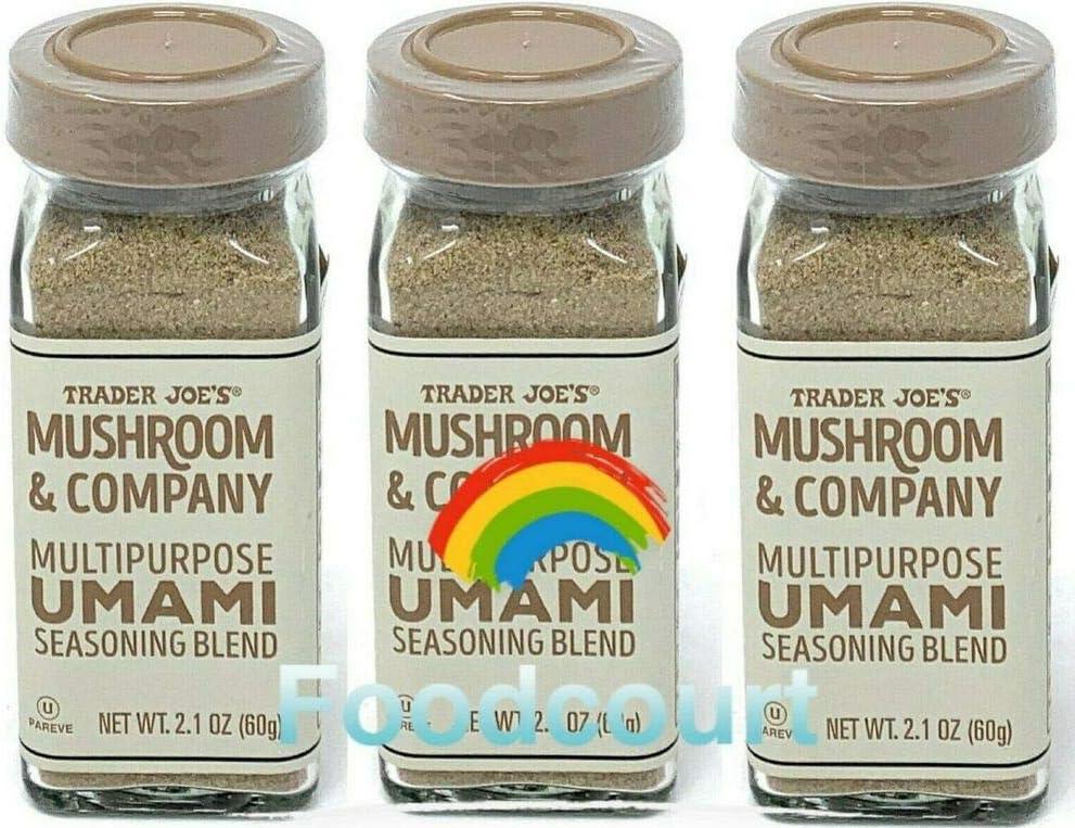 3 latest X Trader Joe's MushroomCompany Seasoning B New mail order Multipurpose Umami