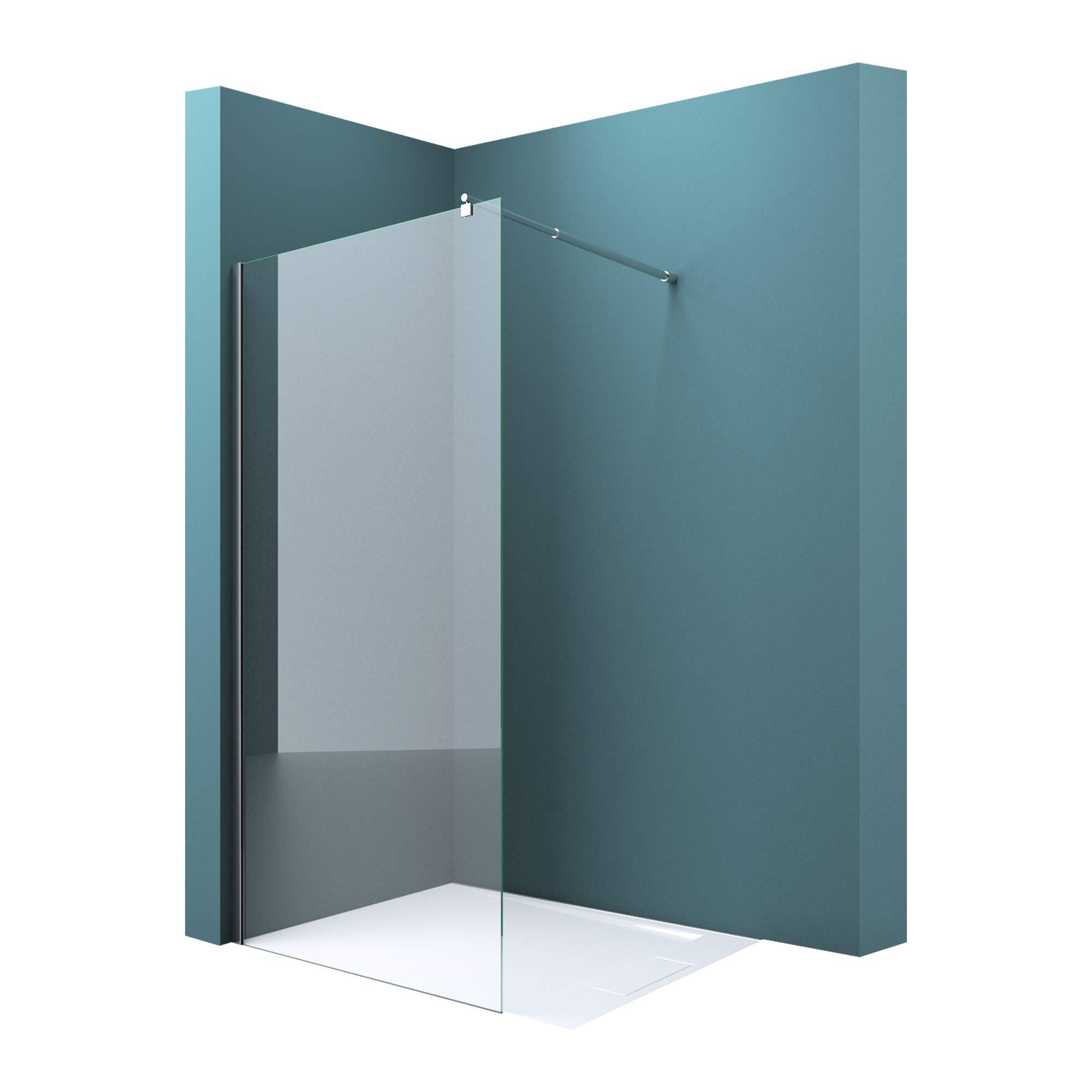 Mampara para ducha Bremen2K, 10 mm de cristal de seguridad de vidrio templado altamente resistente EGS transparente, con revestimiento NANO en ambos lados, incluye estabilizador: Amazon.es: Bricolaje y herramientas