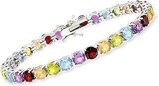 Ross-Simons 18.60-19.90 ct. t.w. Multi-Gemstone Tennis Bracelet in Sterling Silver