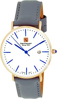 Steinhausen Women's Classic Burgdorf Swiss Quartz Stainless Steel Watch with Leather Band