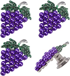 4 Cabinet Knobs for Dresser Drawers Cabinet Handles Pulls for Home Office Cupboard Purple Spots