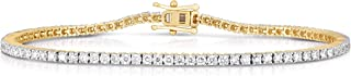 Femme Luxe 3.00 Carats Lab-Grown Diamond Tennis Bracelet for Women, 14K Yellow or White Gold, Diamond Color: E-F, Clarity:...