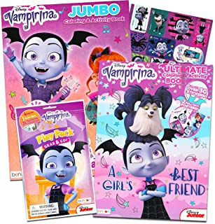 Disney Vampirina Coloring Book Super Set -- 2 Coloring Books, Posters, and Vampirina Stickers (Vampirina Party Supplies)