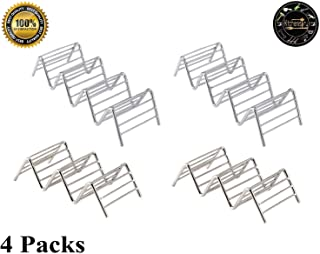 Taco Holder 4 Pack Stainless Steel Taco Stand Taco Rack Space for up to 14 Hard or Soft Shell Tacos
