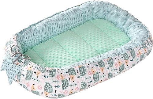 Reducteur de lit Bébé Cocon 90x50cm 100% Coton Baby Nest nouveau-né Medi Partners Nid de Bébés Oreiller Couverture In...
