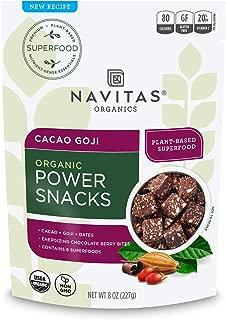 Navitas Organics Superfood Power Snacks, Cacao Goji, 8oz. Bag — Organic, Non-GMO, Gluten-Free