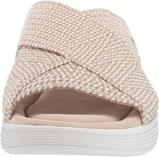 Womens Slides Sandal Product up-Gradation-Stretch Cross Orthotic Slide Sandals for Women Indoor /& Outdoor Beige,3