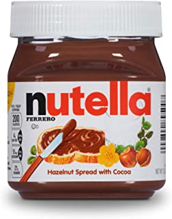 Nutella Hazelnut Spread, Perfect Christmas Stocking Stuffer and Topping for Holiday Treats, 13 Oz Jar (Packaging May Vary)
