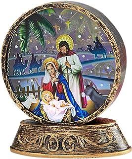 WWWL Veilleuse Décorations de lumière de Nuit de Noël pour la Maison Santa Claus Élan Bonhomme de Neige Jesus Mise en Page...