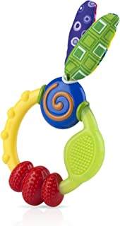 Nuby 67940 Wacky Teething Ring, Green And Yellow