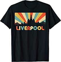Liverpool City England Vintage Disco Skyline Souvenir Design T-Shirt