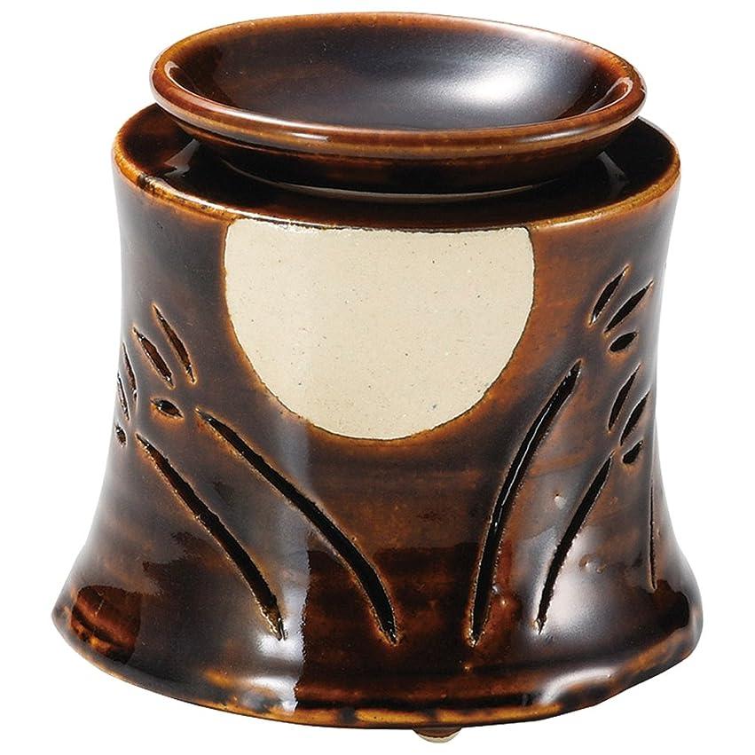 病んでいるコンチネンタル振る舞う山下工芸 常滑焼 佳窯アメ釉十五夜茶香炉 11×11.5×11.5cm 13045760