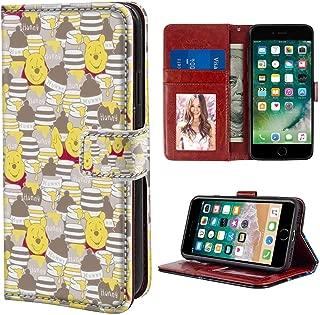 Pooh Wallpaper Wallet Case Compatible iPhone 6s Plus (2015) | iPhone 6 Plus (2014) 5.5 Version Flap