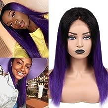 Best dark purple human hair wig Reviews