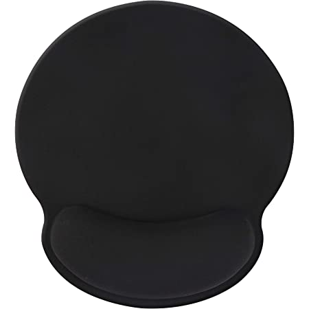 Jahosin - Tappetino per mouse con supporto per il polso, colore: Nero puro, con poggiapolsi ergonomici, confortevole in memory foam antiscivolo per computer e ufficio (25 x 23 WristBlack2)