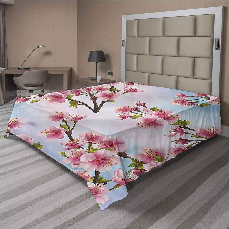 LCGGDB Japanese Flat Top Sheet sale Sakura C Day Soft Petals Sunny on