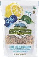 CASCADIAN FARM, GRANOLA, OG2, LMN BLUEBERRY, Pack of 4, Size 11.5 OZ - No Artificial Ingredients 95%+ Organic