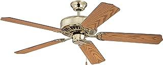 Craftmade K11137 Protruding Mount, 5 Light Oak Blades Ceiling fan, Polished Brass