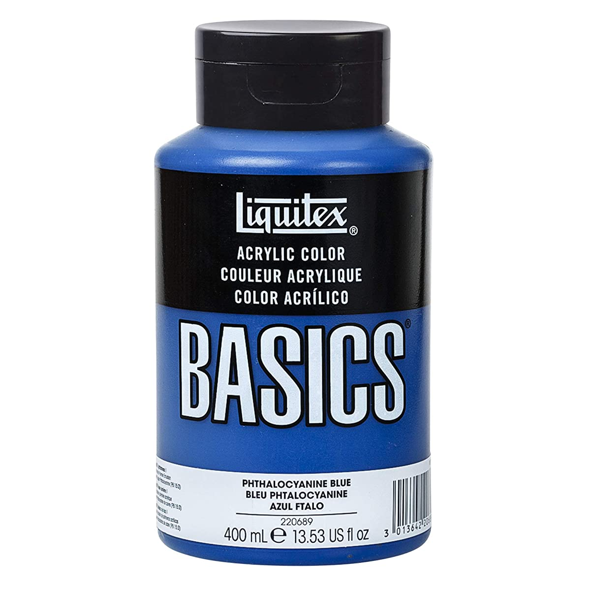 Liquitex BASICS Acrylic Paint, 13.5-oz bottle, Phthalocyanine Blue