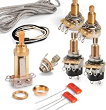 Golden Age Premium Wiring Kit for Gibson Les Paul with Push-pull Pots, Long-shaft CTS Pots and Gold Switchcraft Switch