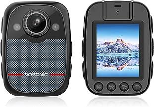 Sponsored Ad - QUNVAL 1080P 64G Body Camera,Waterproof Body Worn Camera, Portable Body Camera with Audio Recording Wearabl...