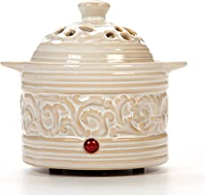 Hosley Cream Electric Potpourri Warmer 6 Inches High Ideal Gift for Wedding Special Occasions Spa Aromatherapy Reiki Medit...