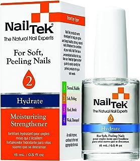 Nail Tek Hydrate 2, Moisturizing Strengthener for Soft and Peeling Nails, Nourish, Protect Nails from Chips, Splits, Peeli...
