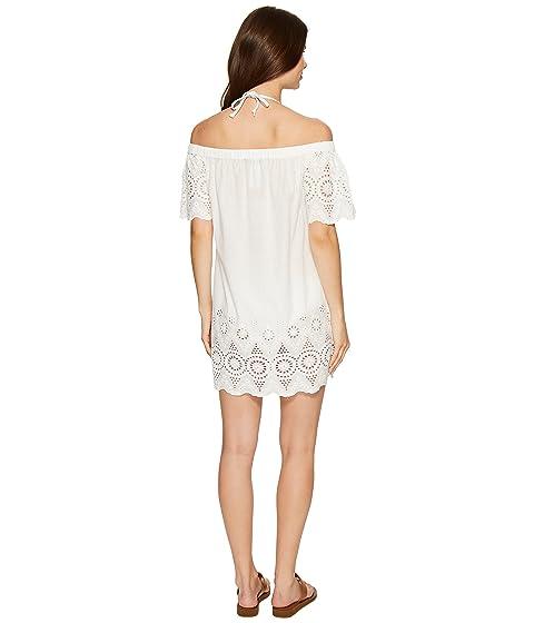 vestido hombros descubiertos Lauren blanca con capucha LAUREN Ralph qxwfEIqU