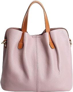 d4109276e946 Molodo Womens Satchel Hobo Top Handle Tote Genuine Leather Handbag Shoulder  Purse