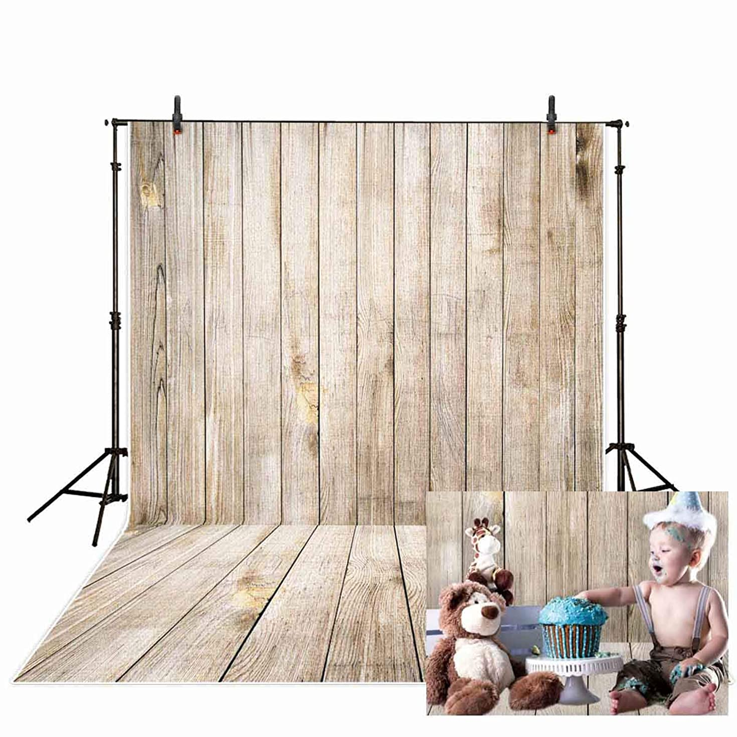 Allenjoy 5x7ft Seamless Thin Vinyl Wooden Floor Pattern Photography Backdrops Newborn Baby Shower Wood Wall Photo Background Photo Studio Props Photoshoot photocall