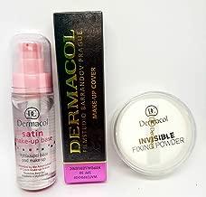 KIT Dermacol Make-up Cover Full coverage foundation concealer makeup + Dermacol Primer Satin make up base 30ml + Dermacol Invisible Fixing Powder white BUNDLE (SHADE 210) 100% ORIGINAL Guarantee