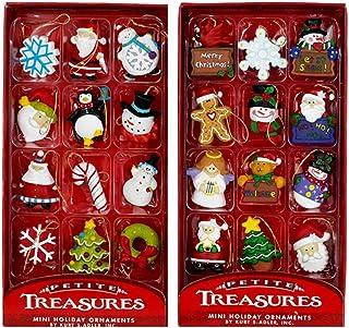 Best Kurt Adler Petite Treasures 12-Piece Miniature Ornaments Set, 2 Pack Reviews