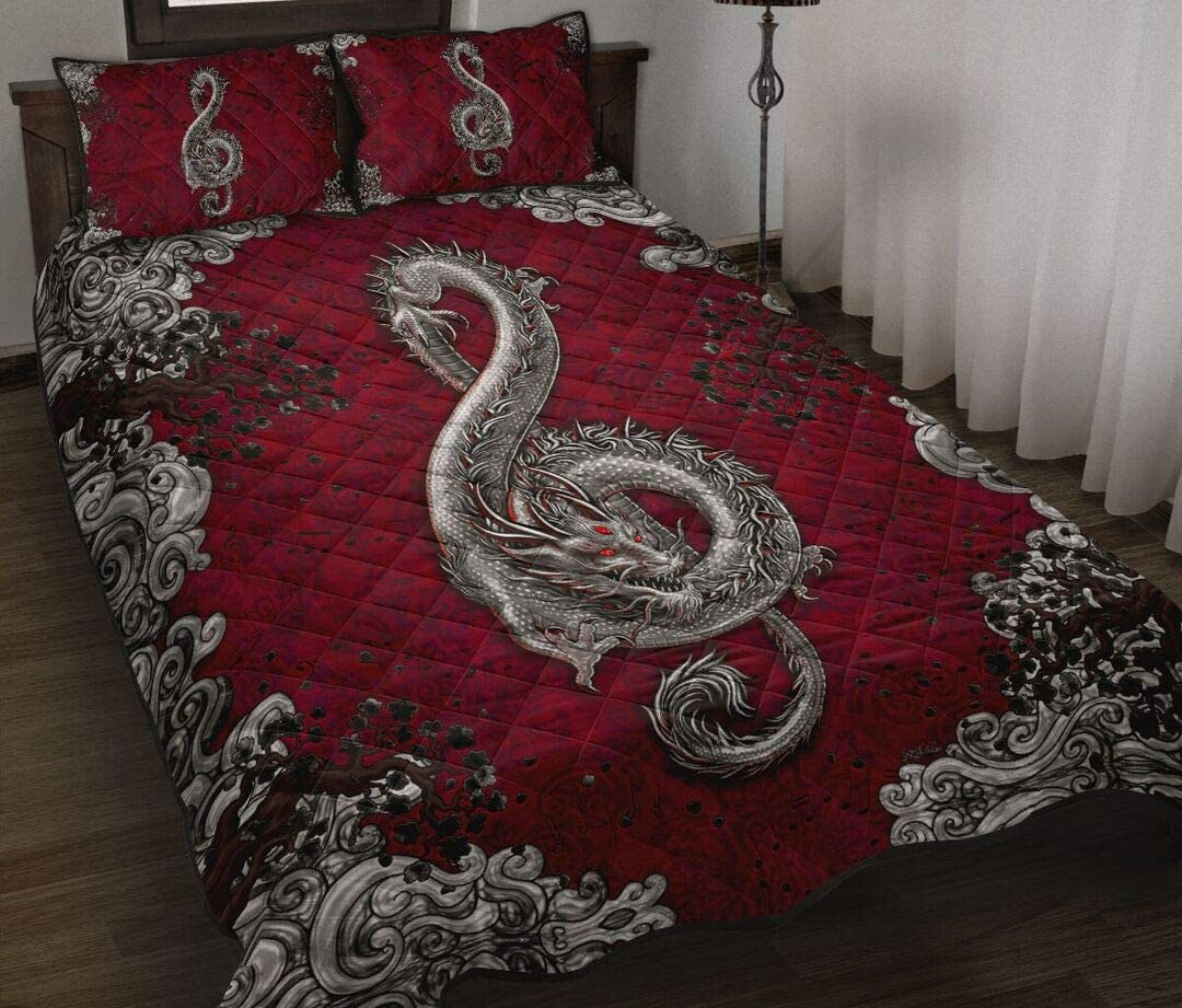 Personalized High quality Dragon Art Style Quilt King Day Que Patrick's 2021 new Gift