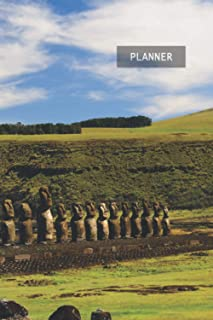 Weekly Planner Easter Island Chile: 1 Year Week by Week Planning | 12 Months (January 2021 December 2021) | 6 x 9 Writing ...