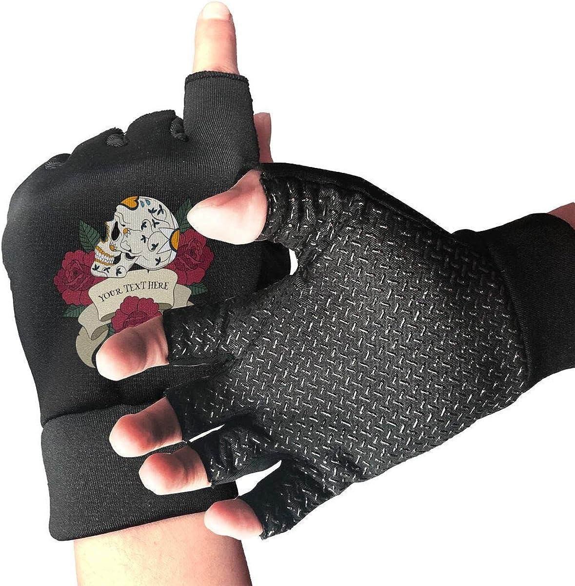 Gloves Art Skull Fingerless Gloves Short Touchscreen Gloves Winter Motorcycle Biker Mitten