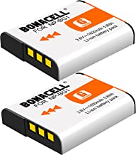 Bonacell NP-BG1 Battery(2 Pack) Compatible with Sony Cyber-Shot DSC-W220, DSC-H50, DSC-W150, DSC-H55, DSC-H3,DSC-H10, DSC-H20, DSC-H50, DSC-HX7V, DSC-HX9V DSC-W80