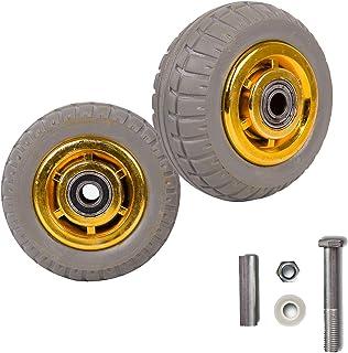 YJJT Massieve rubberen wielen, stille wiel, anti-stress, slijtvastheid, antislip, maximale belasting per ronde 200 kg, voo...