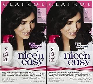Clairol Nice 'n Easy Color Blend Foam Hair Color, 2, Black, 2 pk