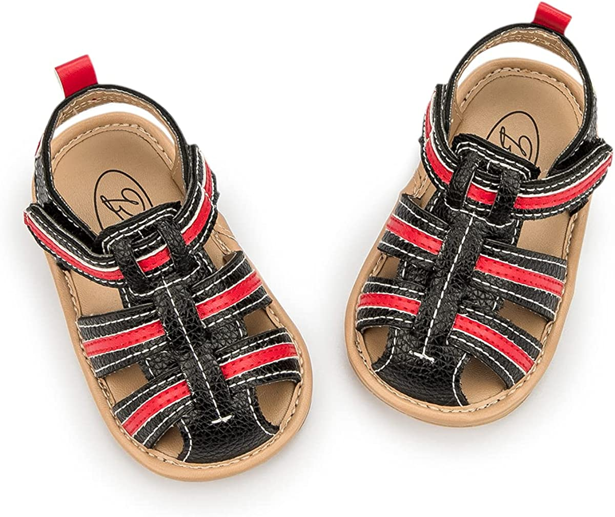 Zoolar Baby Boys Girls Summer Beach Breathable Athletic Closed-Toe Sandals Soft Sole Anti-Slip Toddler First Walker Shoes