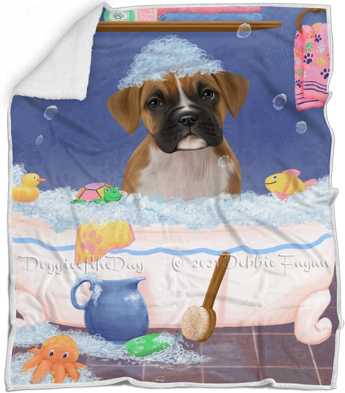 Rub Branded goods A Dub Dog in Tub Seattle Mall War Fluffy Boxer Multicolor - Blanket
