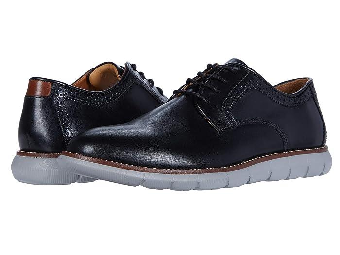 Johnston and Murphy  Holden Plain Toe (Black Full Grain) Mens Shoes