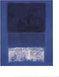 rothko white and greens in blue