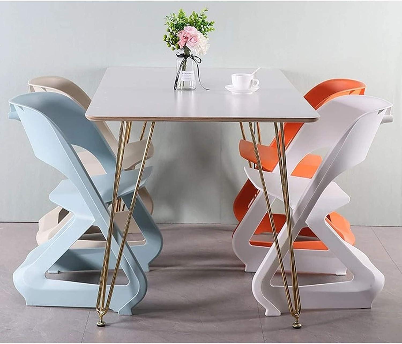 GW Chaises De Salle À Manger, Plastique Chaise De Cuisine, Design Simple Moderne, Accoudoirs Dossier Ergonomique Confortable, Cadre PP, 72 * 51 * 45CM,Noir Orange